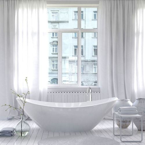 Tende per bagno: come scegliere le tende per la vasca, la doccia e le finestre  #arredare #casa