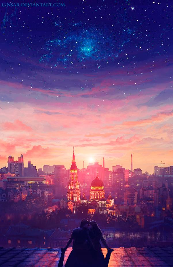 Coucher de soleil manga et dessin en 2019 pinterest - Dessin coucher de soleil ...