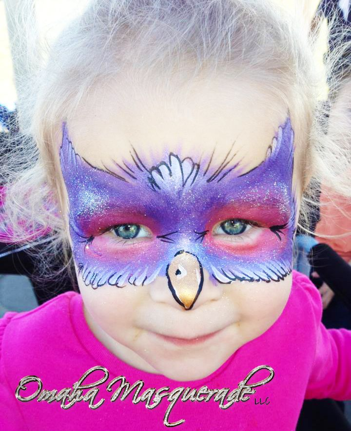 owl face paint by maquillajes pinterest fasching. Black Bedroom Furniture Sets. Home Design Ideas
