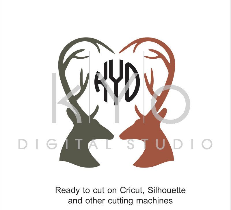 18+ Valentine's Antler With Bow SVG