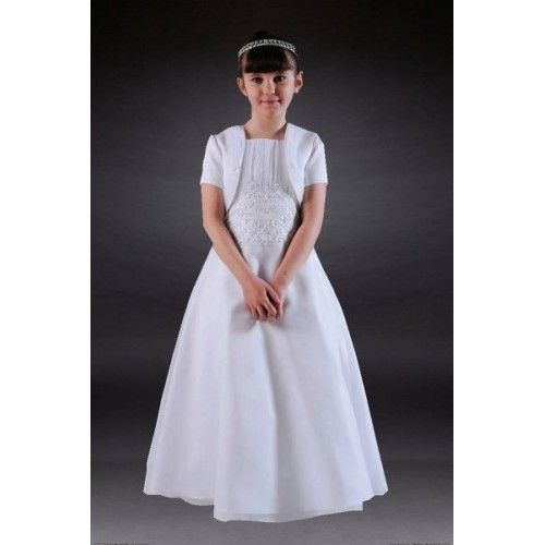 Dresses : CL794 - Beaded Organza Communion Dress & Jacket One Off Unique: April Offer Only - Communion Dresses, Gifts, Boys Suits, Christening & Confirmation   Retail Outlet in SW London