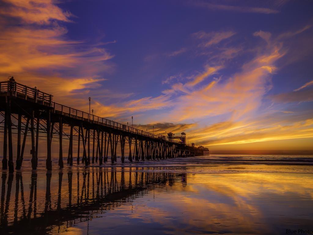 Oceanside Pier North by michael blue / 500px http://goo.gl/REz3h6