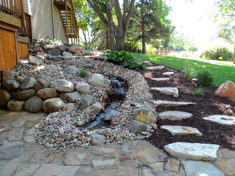 Landscaping rock waterscapes for mountain living garden for Water feature design