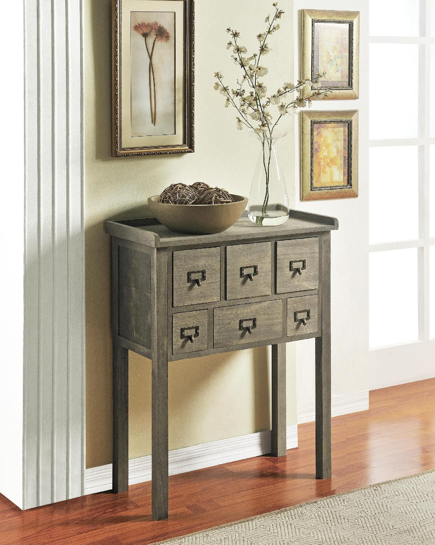 Side tables for hallways on pinterest hallway furniture console for my front hallway altra furniture 6 drawer accent console table in gray finish 5089096 lowest price online on all altra furniture 6 drawer accent geotapseo Image collections