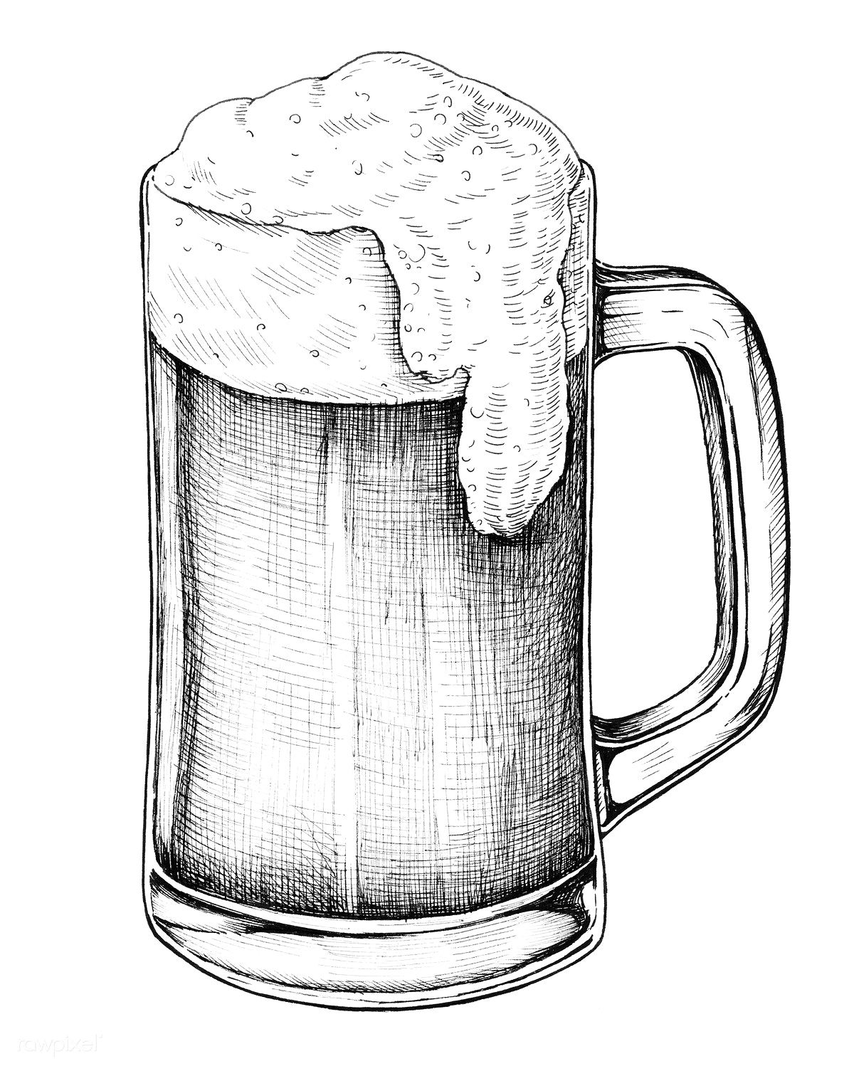 Hand drawn beer alcoholic drink | free image by rawpixel ...