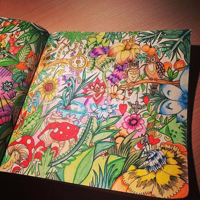 pin auf escape to wonderland coloring book