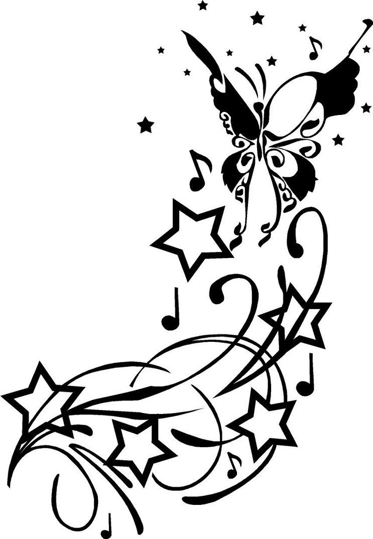 512359ec9 stars & butterfly tattoo | Tattoos :) | Swirl tattoo, Picture ...