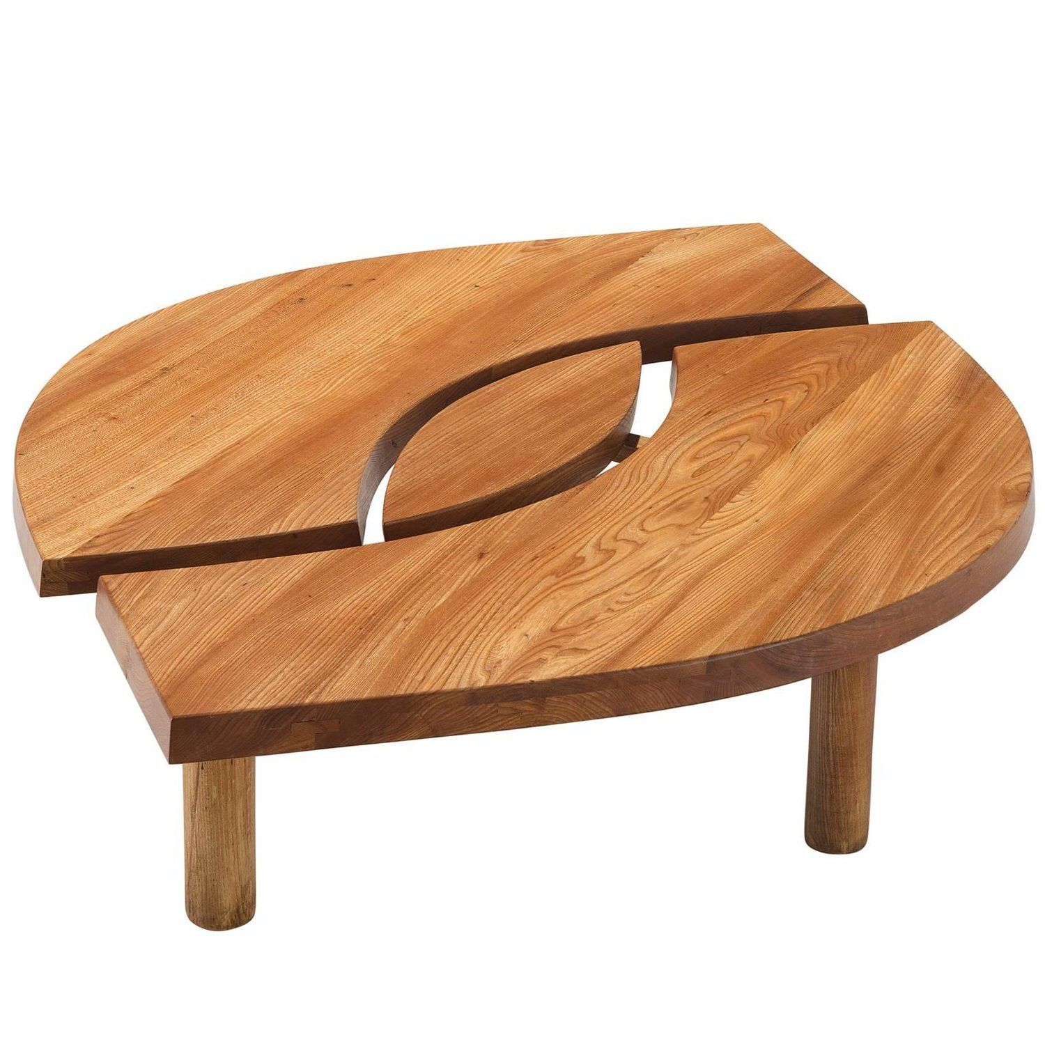 pierre chapo coffee table l oeuil in solid elm coffee and tables