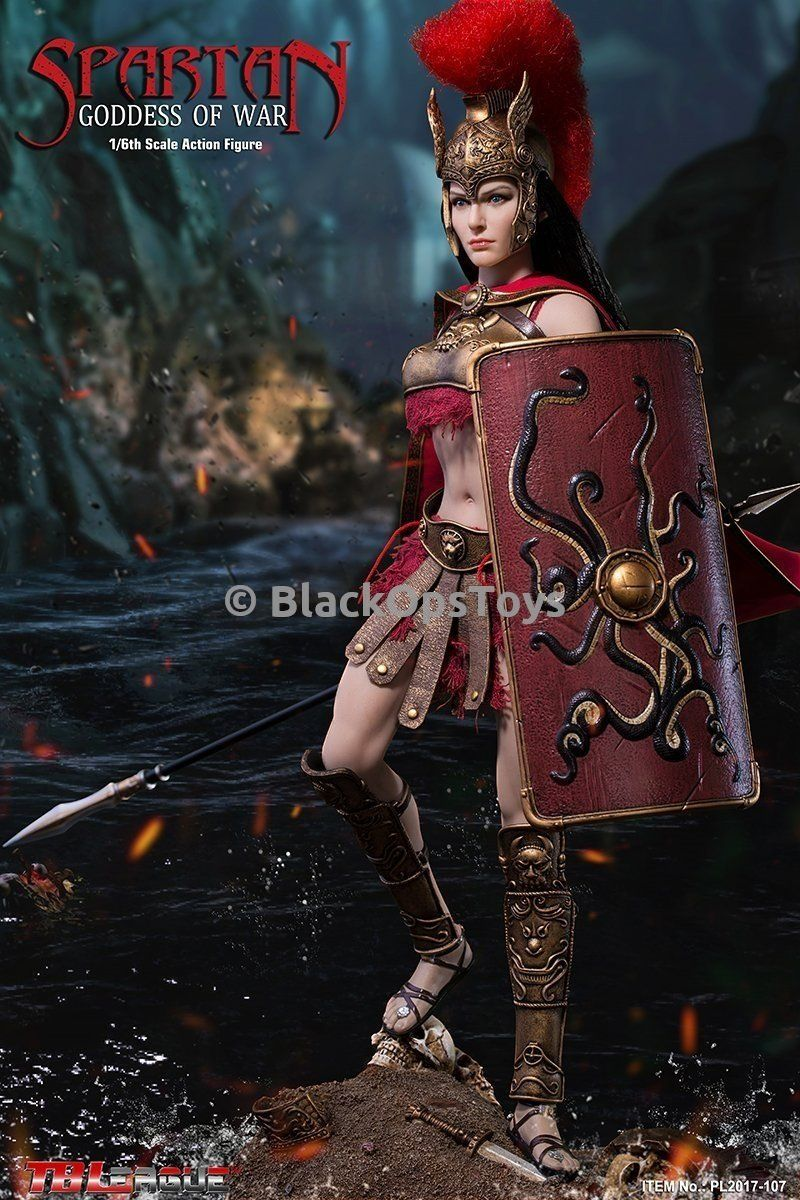 1//6 Scale Phicen Action Figures Long Red Cloak Spartan Goddess of War