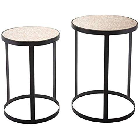Antique Set Of 2 Living Room Furniture End Tables Accent