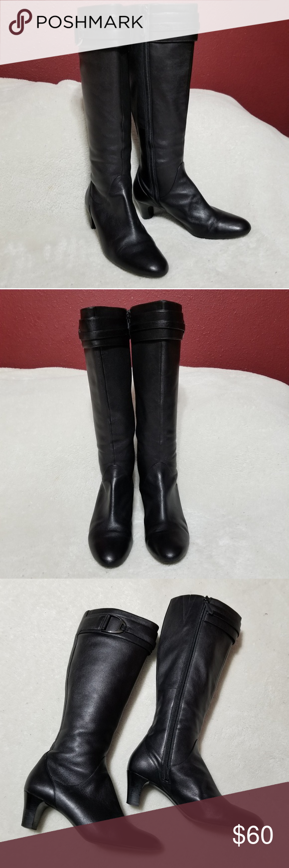 9d7a19545a9 Cole Haan Knee High Boots Cole Haan Knee High Boots Faux Leather Very  Gently Loved Side Zippers 2in Heel 17in top to bottom Cole Haan Shoes  Winter   Rain ...