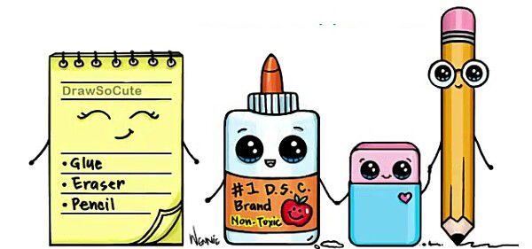 School Supplies | Каваи en 2018 | Pinterest | Dibujos, Dibujos ...