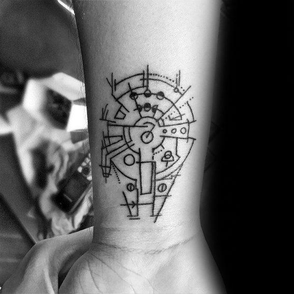 50 Millennium Falcon Tattoo Designs For Men - Star Wars Ideas