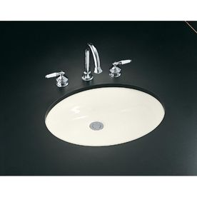 Kohler Caxton Biscuit Undermount Oval Bathroom Sink 2211 G 96