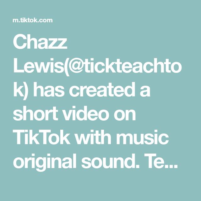 Chazz Lewis Tickteachtok Has Created A Short Video On Tiktok With Music Original Sound Teach Children Through T The Originals Crafty Moms Lgbtq Lives Matter