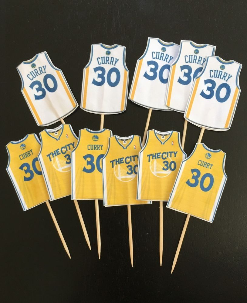 ce1c2ea67bed 12 Golden State Warriors Stephen Curry Cupcake Topper Birthday in ...