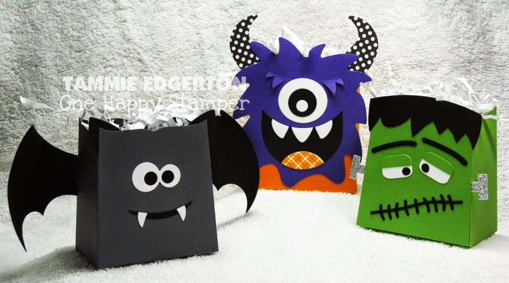 """Hanging out at Memories of Time (MOT) this weekend celebrating World Card Making Day and MOT's """"Grand Re-Opening""""! These fun Halloween treat bags will be my Make-N-Takes...if you'll be on the Oregon Coast, come hang out with us! - Details are on my blog.  (TE; Taylored Expressions)"""