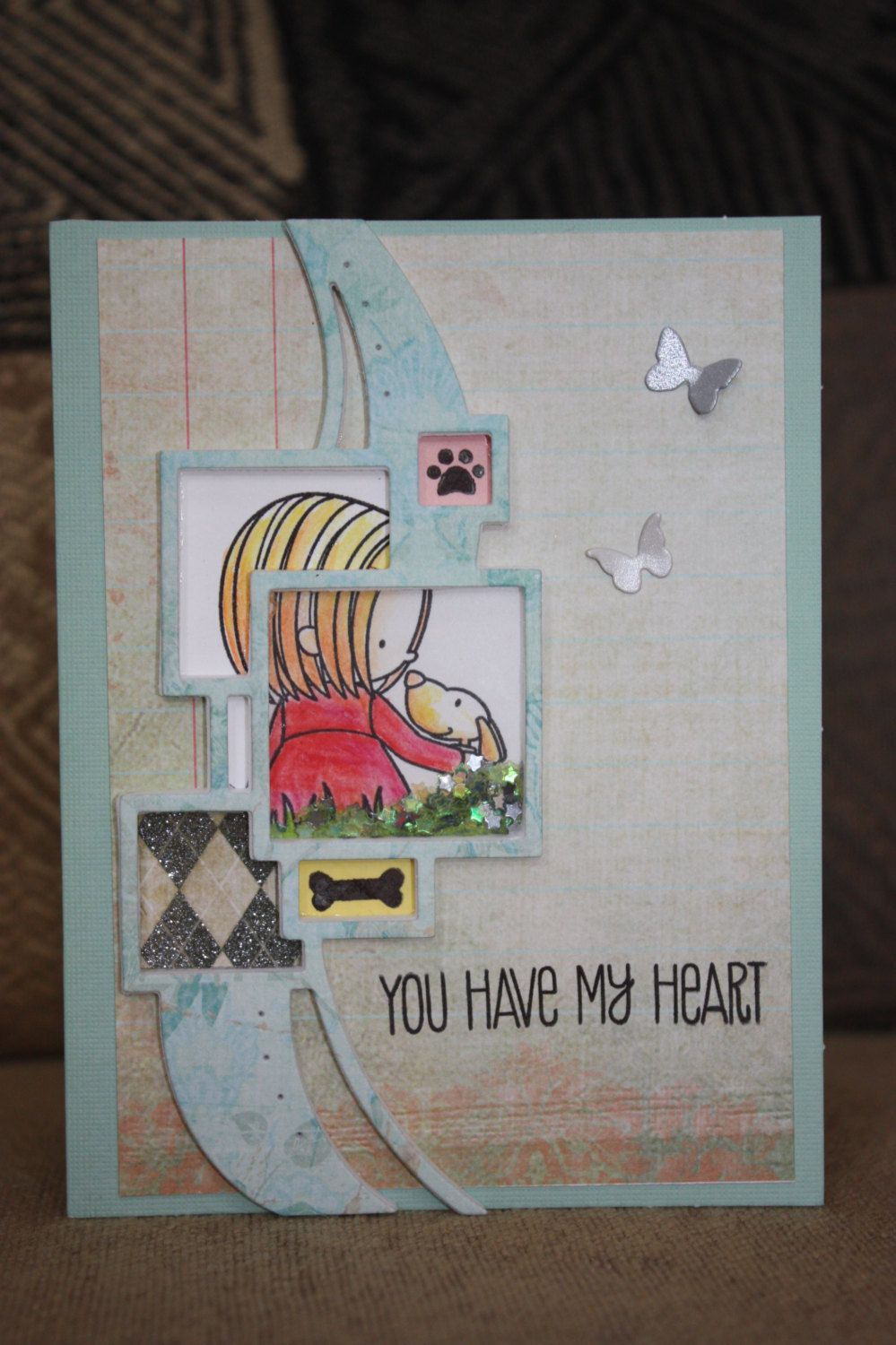You have my Heart Shaker Card by maggielovegreetings on Etsy