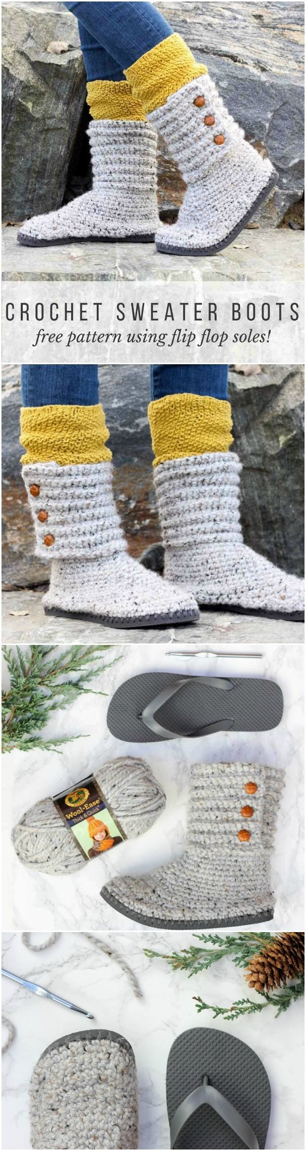 Cabit Boots With Flip Flop Soles | Crochet, Flipping and Patterns