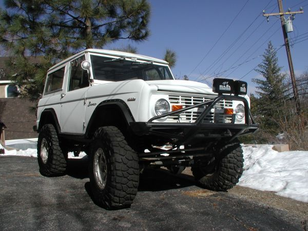 White As Snow 1968 Ford Bronco Ford Bronco Classic Bronco
