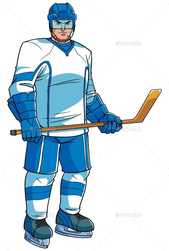 A black woman playing field hockey - Clipart Cartoons By