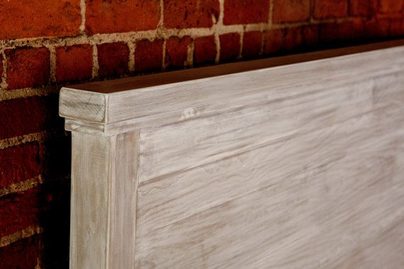 Reclaimed Style White Wash Bed All Sizes by KingstonKrafts on Etsy