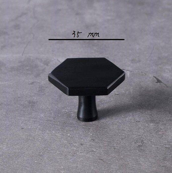 black hexagon brass knob kitchen cabinet pulls drawer knob pull handles dresser knobs pulls on kitchen cabinets knobs id=70202