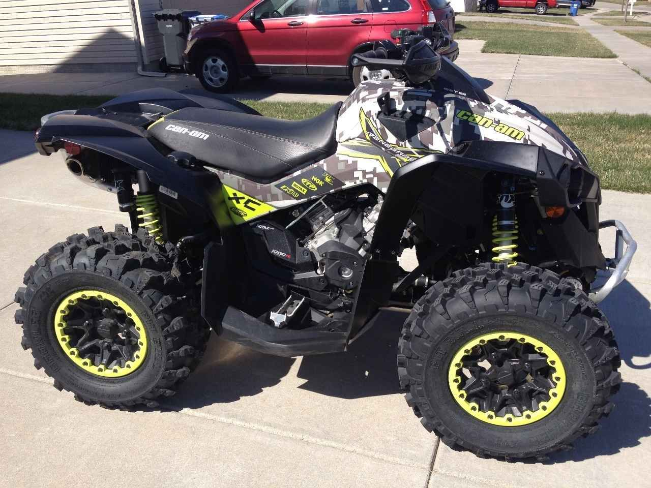 Used 2016 can am renegade x xc 1000 atvs for sale in nebraska 2016 can am renegade 1000r x xc with 13 hours like new has yoshimura can am exhaust
