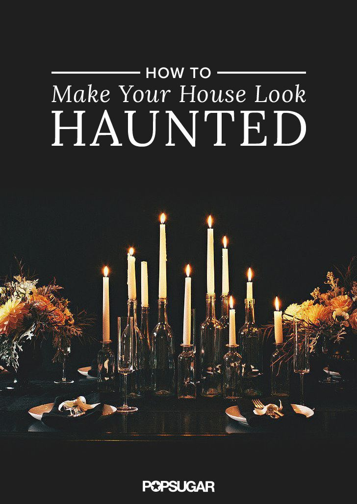 11 Ways to Make Your House Look Haunted Spooky decor, Halloween
