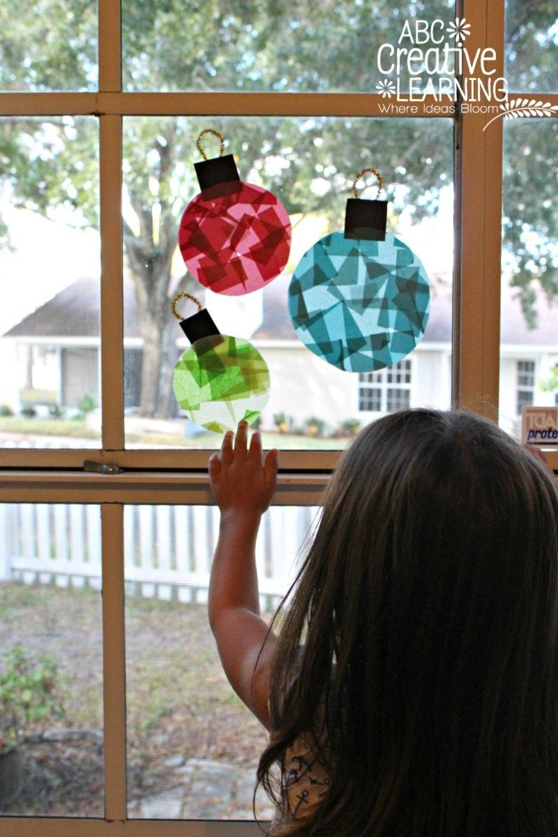 Glass Stained Christmas Window Ornaments   Simply Today Life   Diy ...