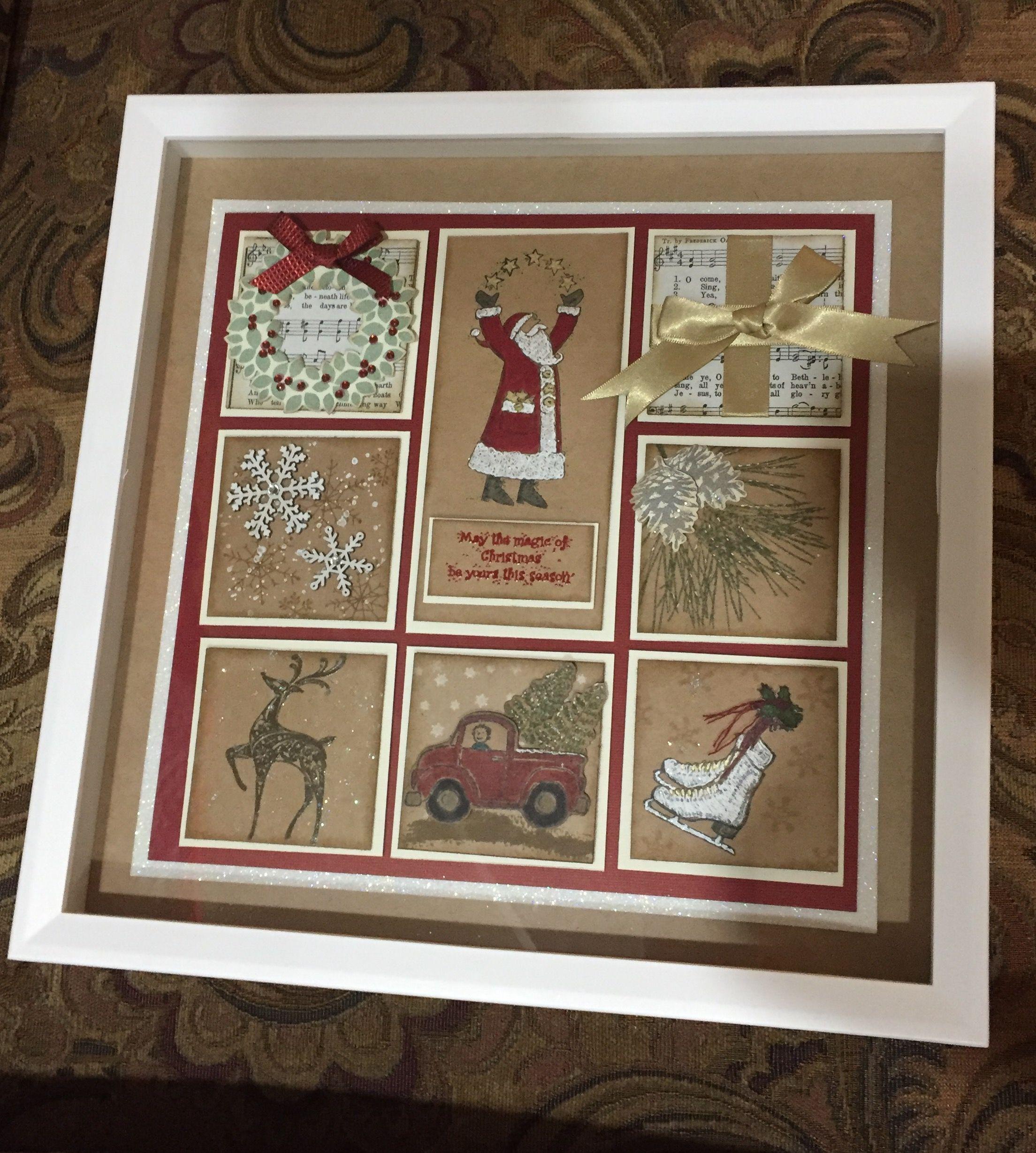 stampin up christmas framed art
