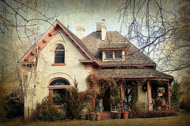 cottage house in af texture by houstonryan, via Flickr