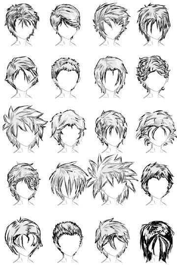 how to draw hair male