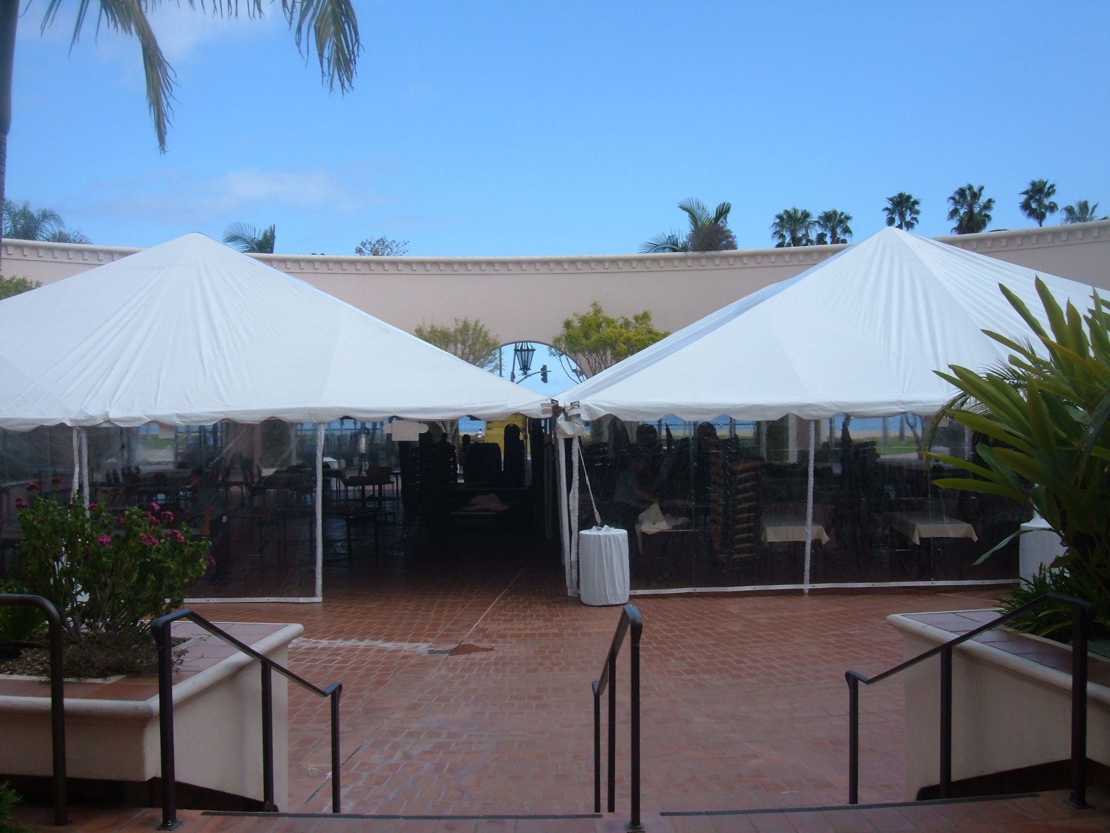 Basic Canopy Tent in the Plaza del