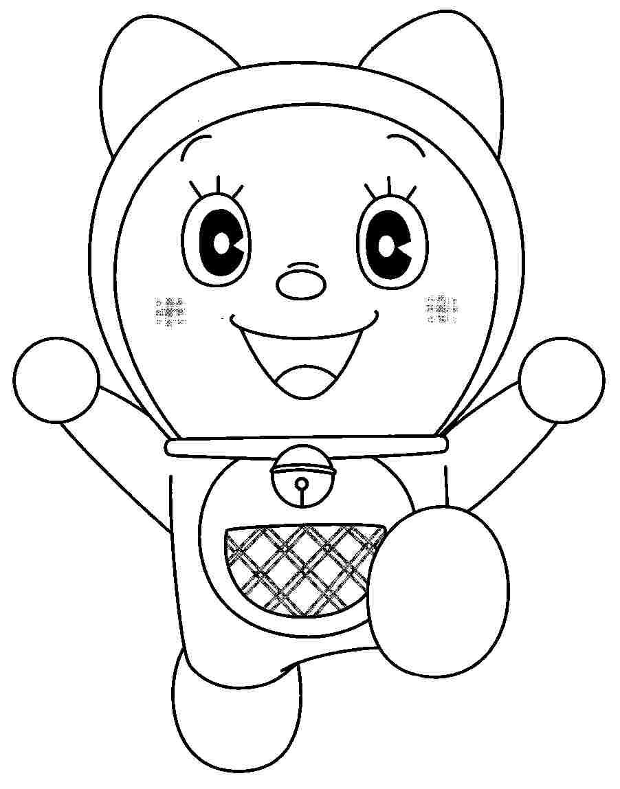 Coloring Sheets Cartoon Doraemon Gian Printable Free For