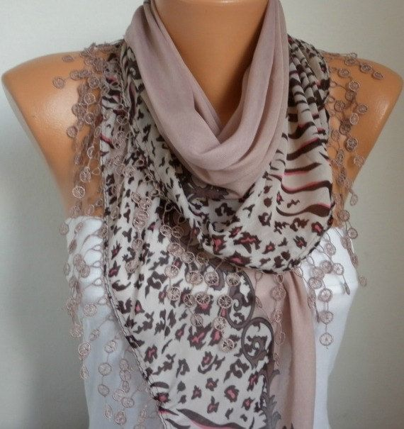 Summer Scarf Shawl  Cotton Weddings Scarves  Cowl with by fatwoman, $17.00