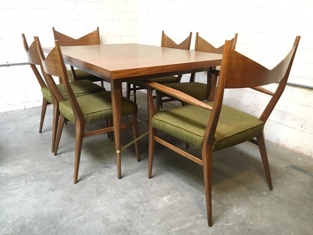 Paul Mccobb For Calvin Mid Century Mahogany Brass Irwin Collection