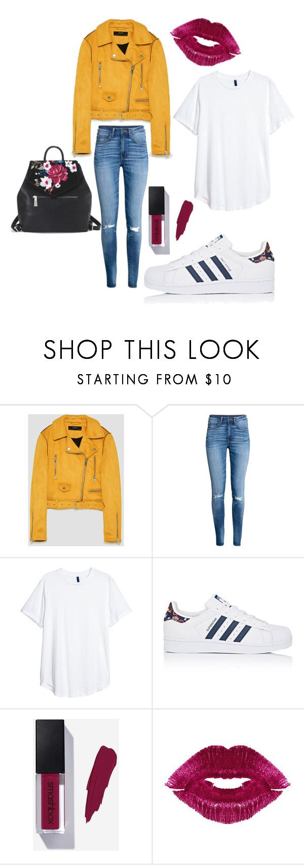 """#254"" by lapetitenene ❤ liked on Polyvore featuring H&M, adidas, Manic Panic NYC, White House Black Market, sneakers and laidback"