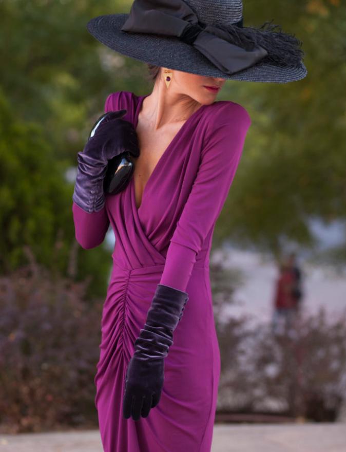 Pamelas , invitada , invitadas, invitada perfecta, pamela, guantes ...