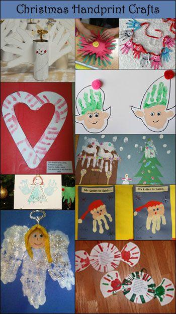 10 Adorable Handprint Christmas Crafts for Kids