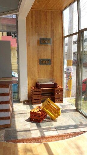 Consola de cajas recicladas #mueblesreciclados #innovapuebla ...