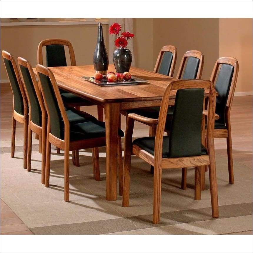 8 Seater Wooden Dining Table And Chairs Esstisch Stuhle Esstisch Design Zuhause