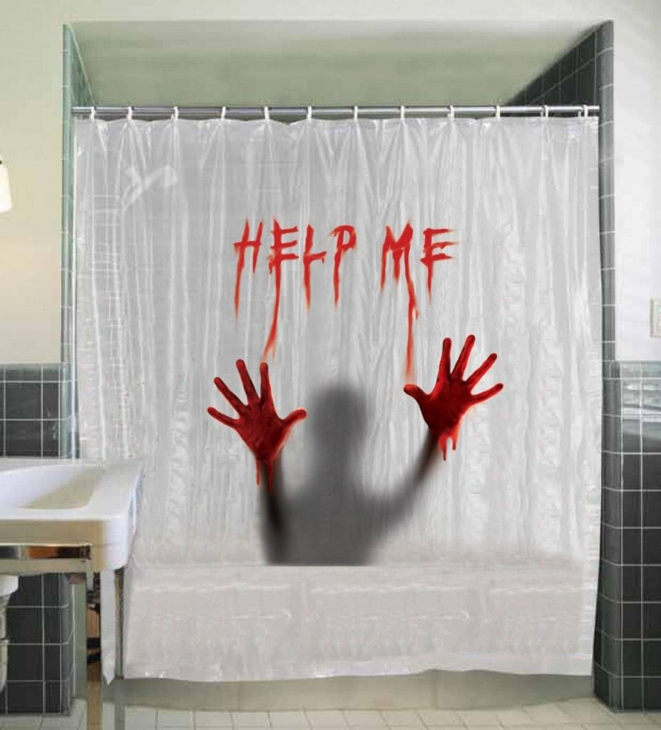 Halloween shower curtain -  Help Me Scary Halloween Shower Curtain