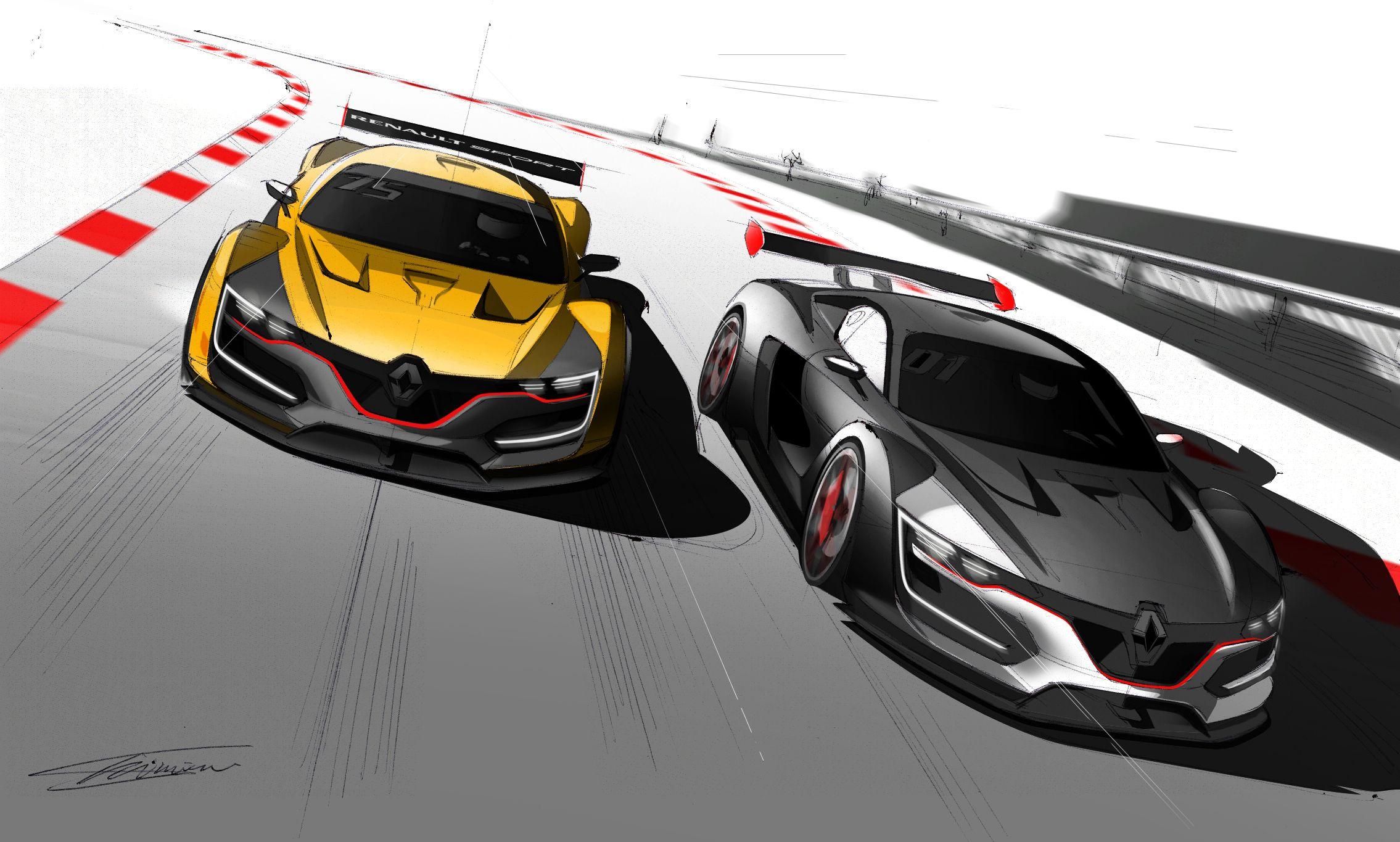 Nuevo Renault Sport R S 01 Renderings 2014: Renault Sport R.S. 01 Gestation Detailed