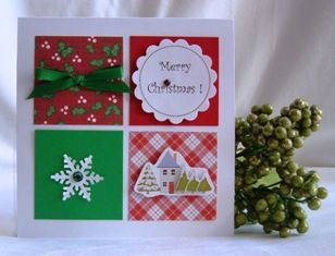 christmas card using scraps card making corner holidays