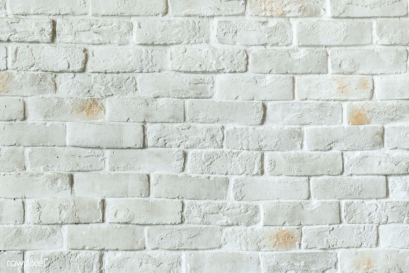 White Brick Wall Textured Background Free Image By Rawpixel Com Brick Wall Background Textured Walls White Brick Walls