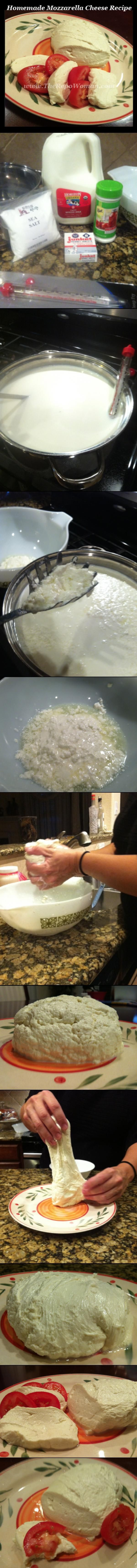 Homemade Mozzarella Cheese is easy to make!  Try it!  I DID!  I will never buy it again!