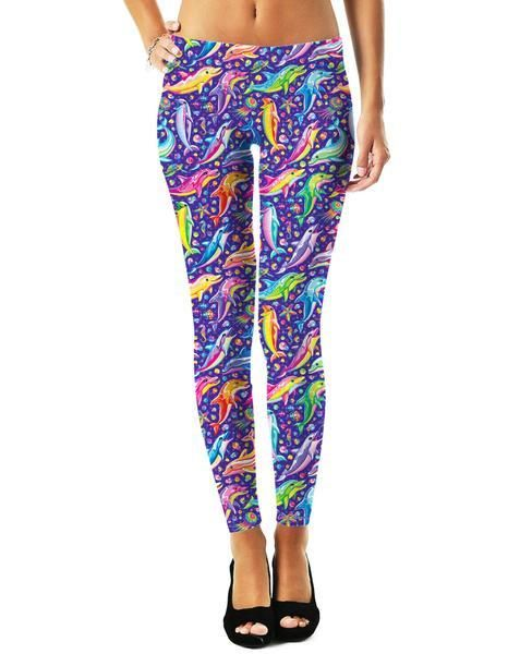 69077cfa30083 RageOn has teamed up with Lisa Frank to bring you a new line of officially  licensed, all-over-print apparel! Make a splash in these Dolphins Pattern  ...