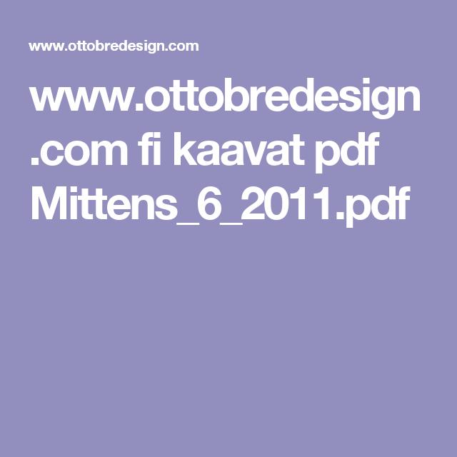 www.ottobredesign.com fi kaavat pdf Mittens_6_2011.pdf