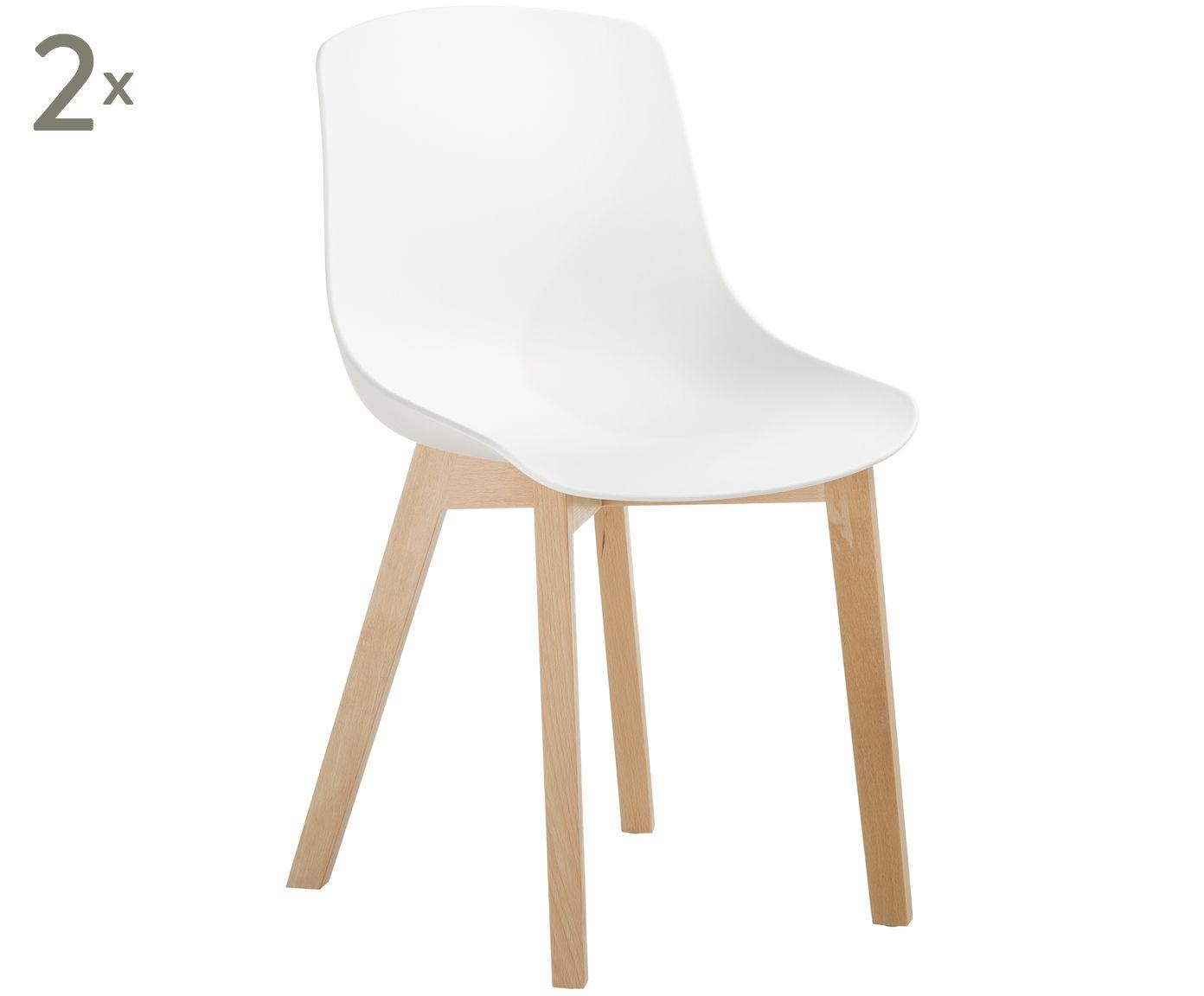 Kunststoffstuhle Dave Mit Holzbeinen 2 Stuck Westwingnow Kunststoffstuhle Stuhle Stuhl Kunststoff